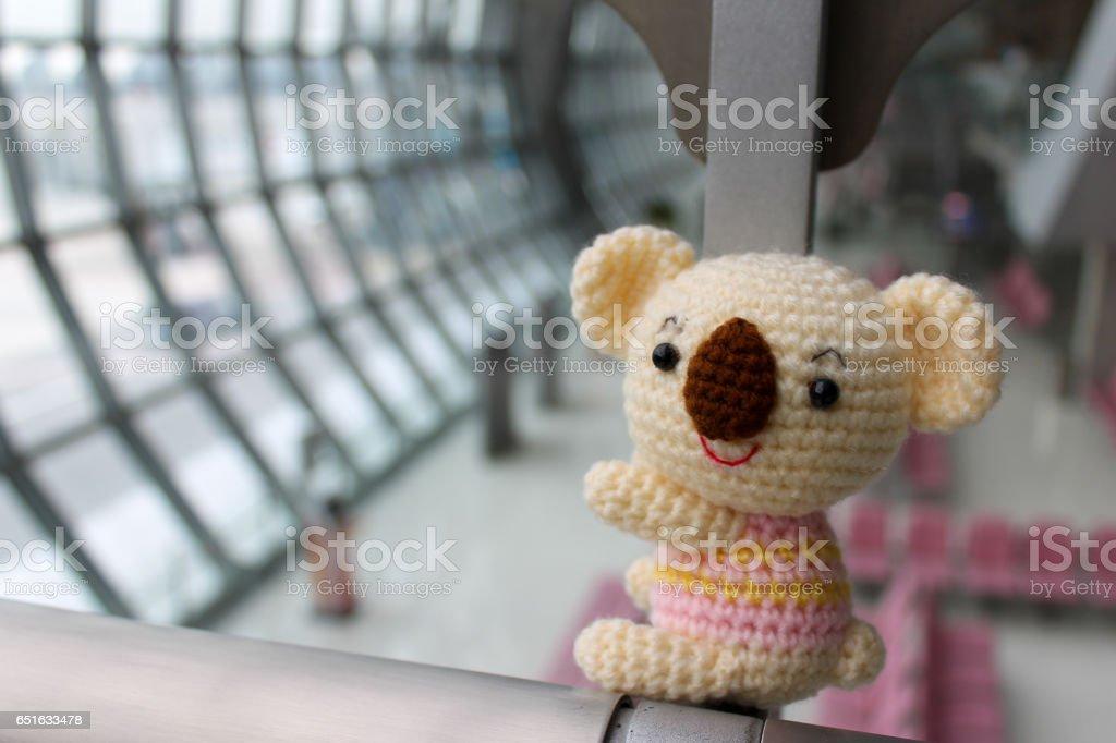 Koala Amigurumi - muñeca de koala de crochet hecha mano. - foto de stock