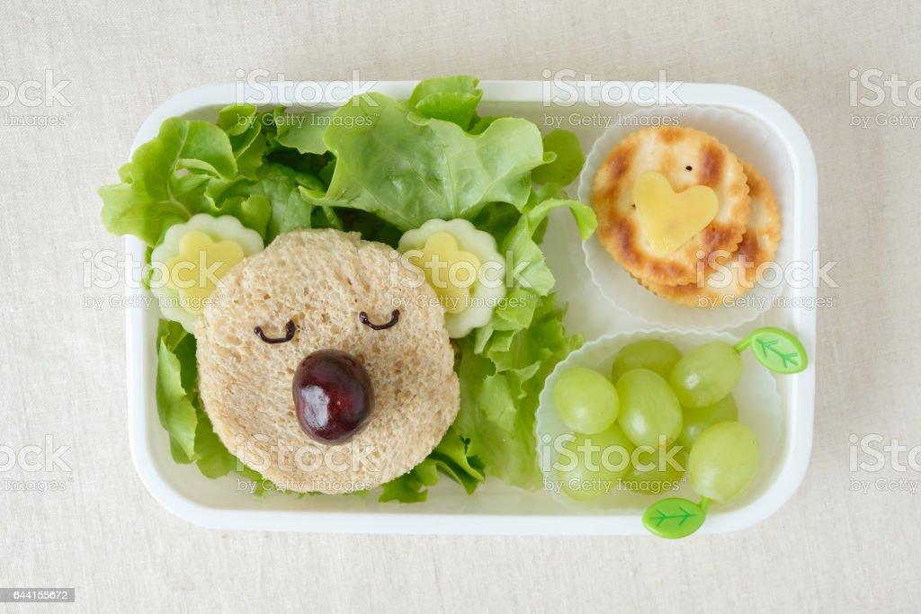 Koala Bär Brotdose, lustige Essen Kunst für Kinder – Foto