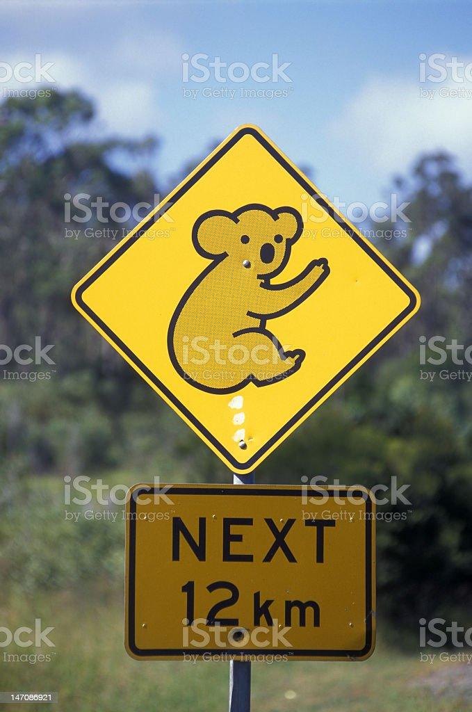 Koala Crossing Sign, Australia royalty-free stock photo