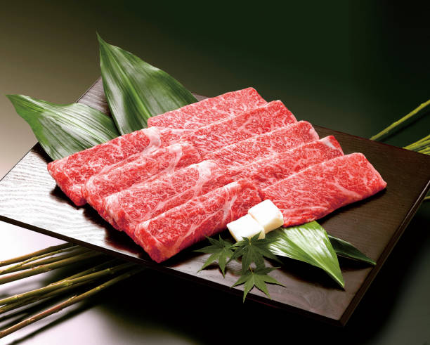 Kobe beef Sukiyaki stock photo