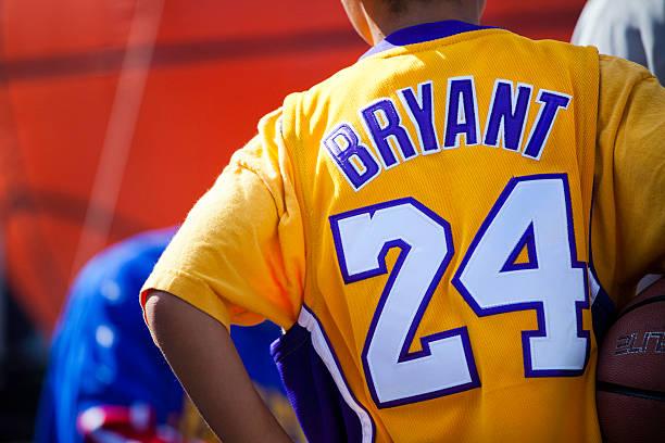 Kobe Bryant Fan stock photo