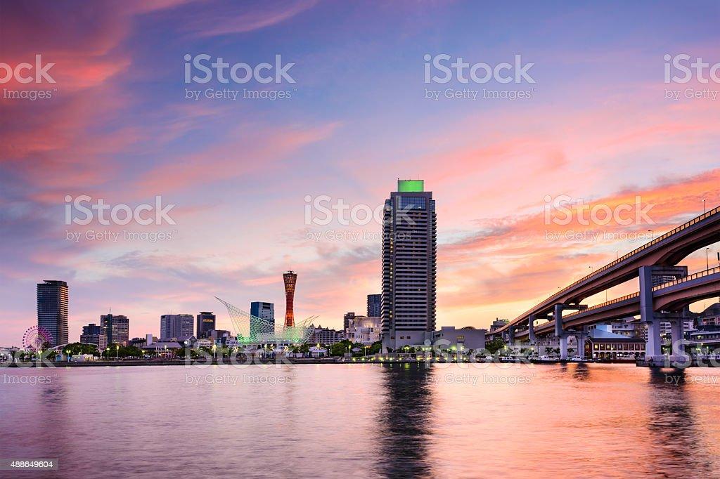 Kobe, Japan at the Port stock photo