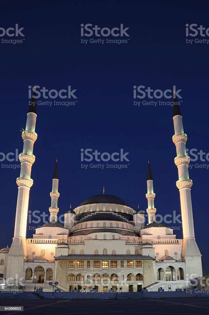 Kocatepe Mosque in Ankara, Turkey royalty-free stock photo