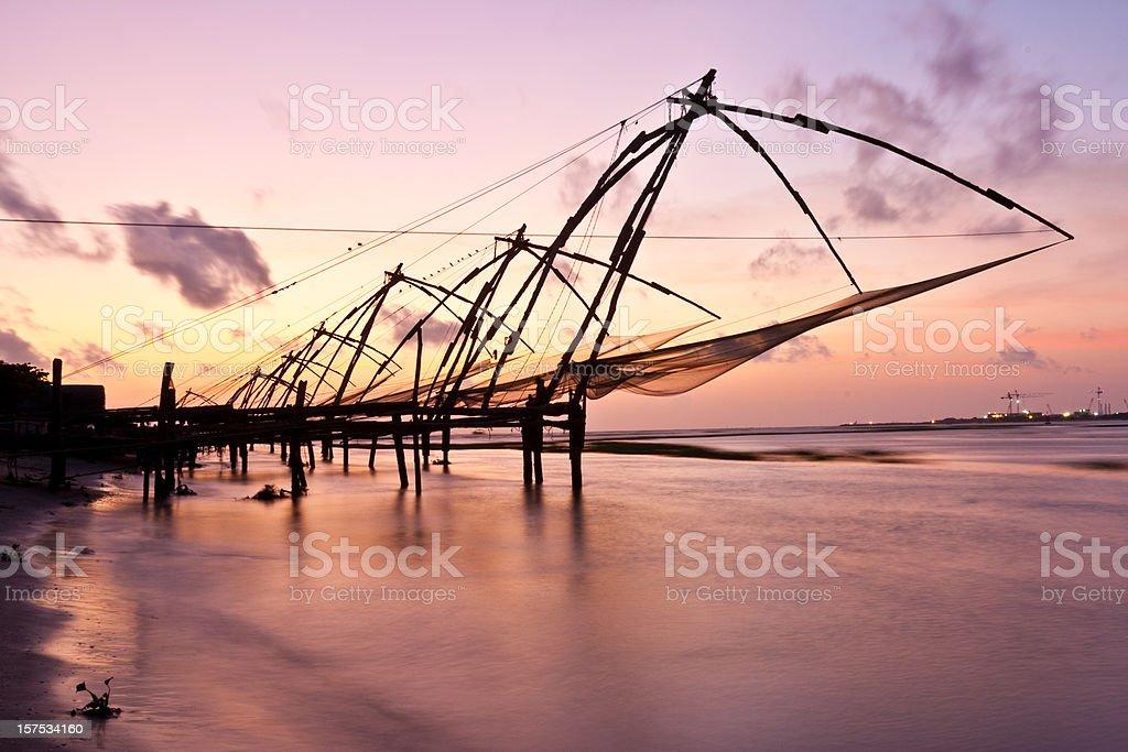 Kochi, India. Chinese fishing nets royalty-free stock photo