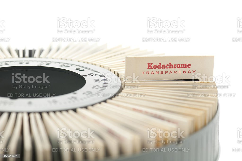 Kodachrome transparency slide in projector royalty-free stock photo