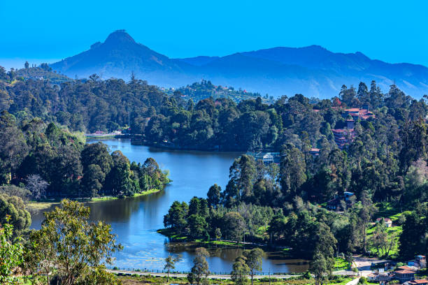 Kodaikanal, Tamil Nadu:  The Picturesque Lake In The British Colonial Town On The Palani Hills, In Southern India stock photo