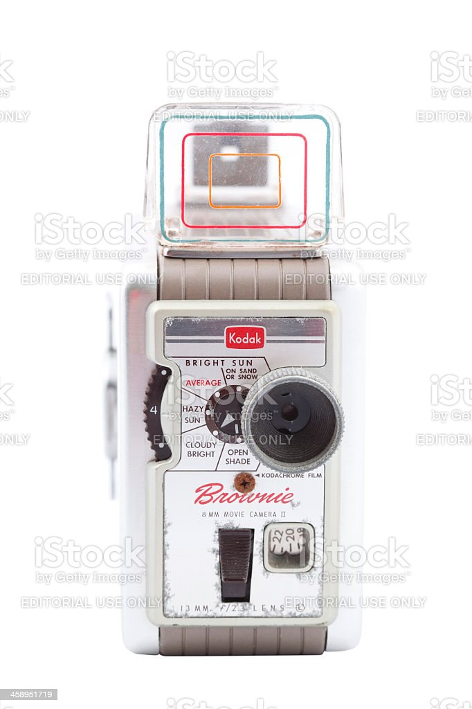 Kodak Brownie 8mm Movie Camera royalty-free stock photo