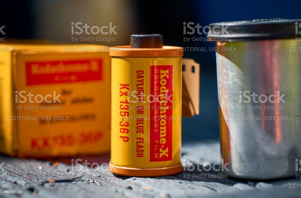 Kodak Kodachrome 35mm Transparency Film stock photo