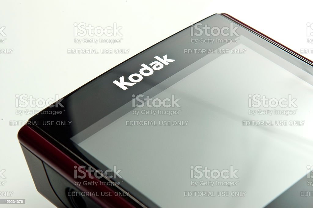 Kodak logo on Zi8 video camera royalty-free stock photo