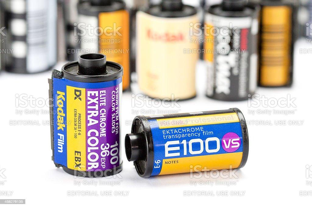Kodak slide film rolls royalty-free stock photo