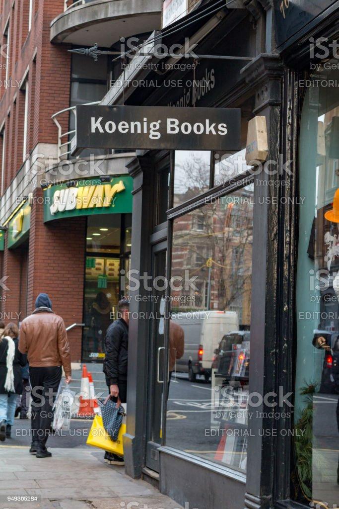 Koenig Books in Charing Cross Road, London stock photo