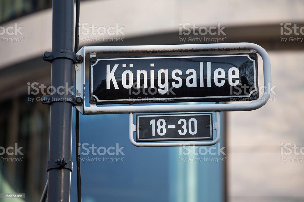 koenigsallee sign germany duesseldorf stock photo