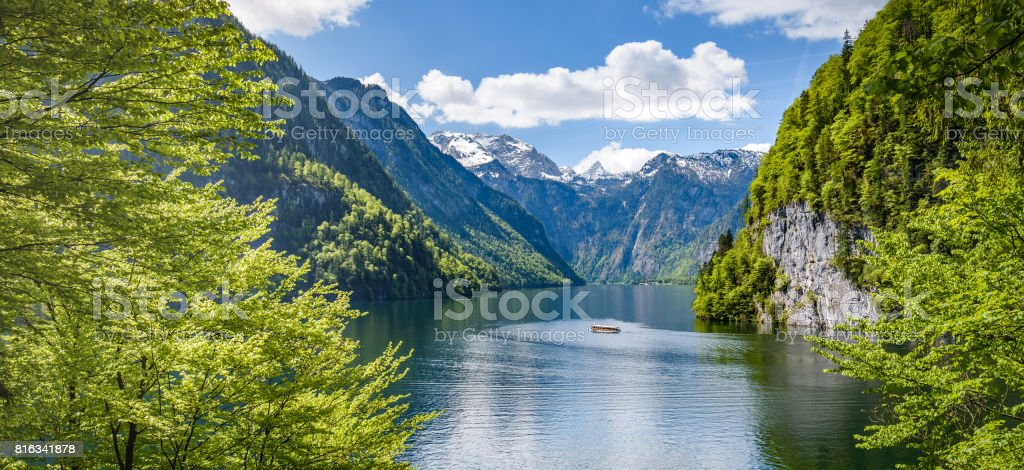 Koenigsee,Berchtesgaden, Bavaria, Germany stock photo