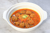 Kofta Tajine dish in claypot