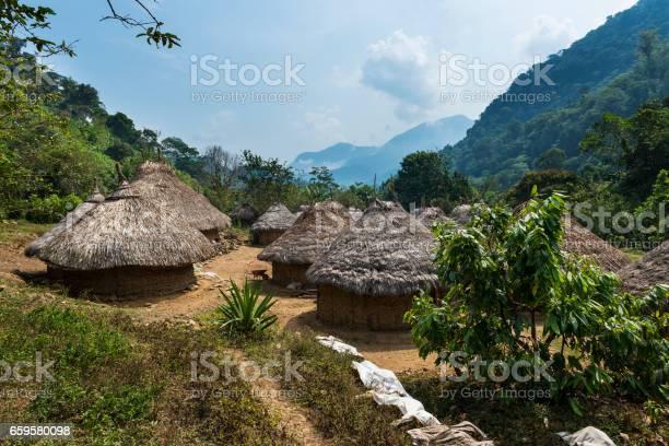 Kogi village in the forest in the sierra nevada de santa marta in picture id659580098?b=1&k=6&m=659580098&s=612x612&h=tps tgjrhhzbykq zduqxggxrhhsc1kzqkdzcca8i60=