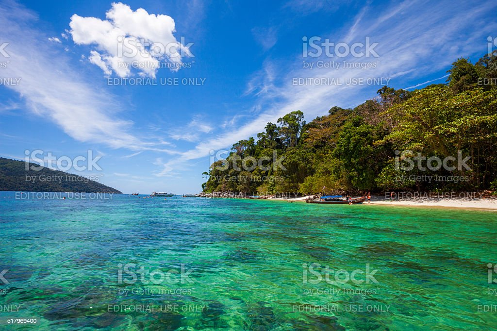Koh Lipe Beach in Satun, Thailand stock photo