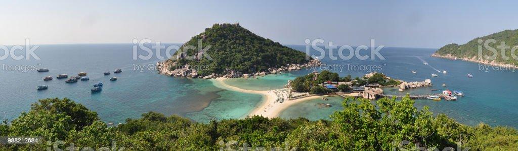 koh Nang Yuan in thailand stock photo