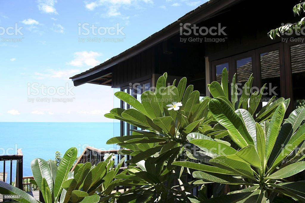 koh samui beach resort stock photo