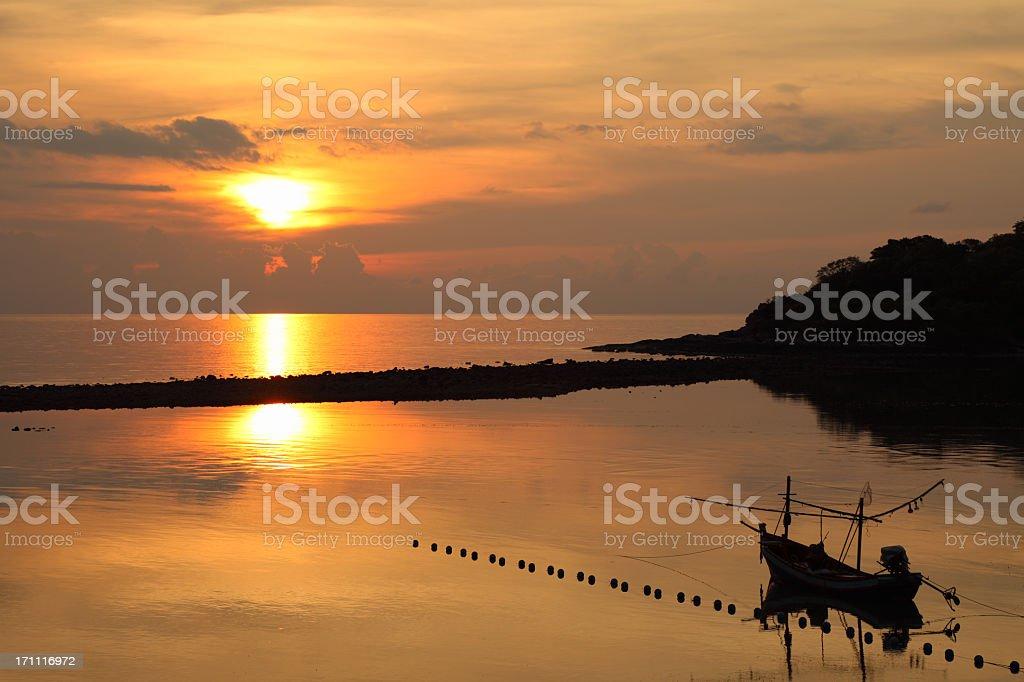 Koh Samui sunset royalty-free stock photo