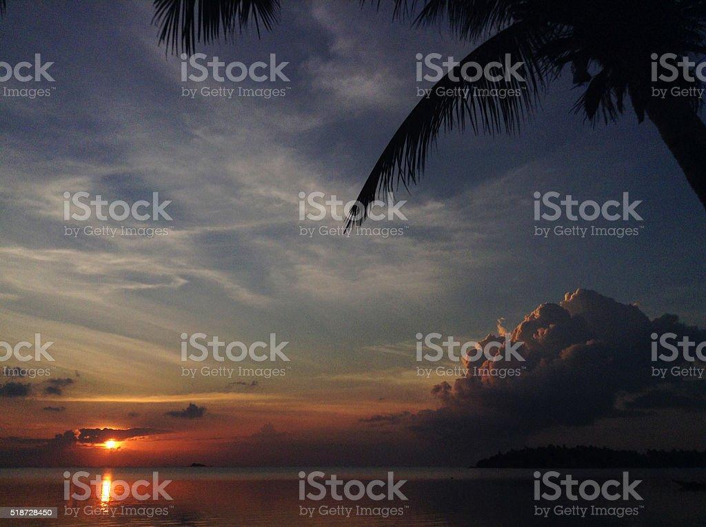 Koh Samui sunset stock photo