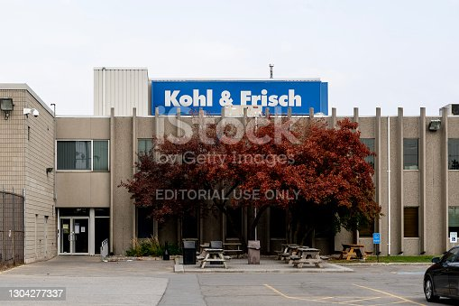 istock Kohl and Frisch headquarters building in Vaughan, Ontario, Canada. 1304277337
