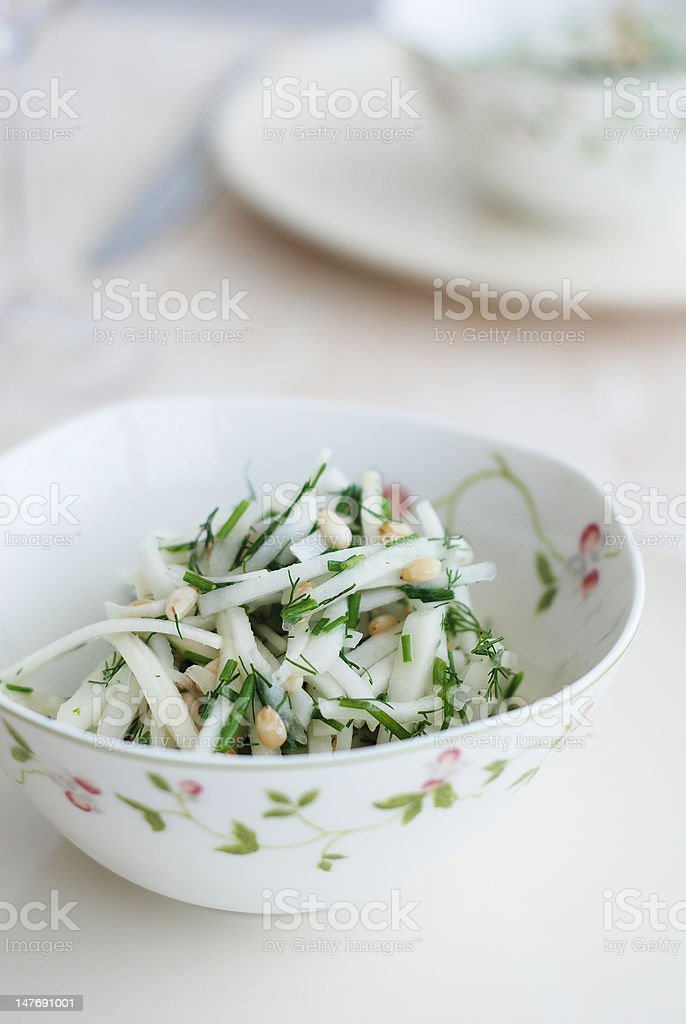 Kohlrabi salad stock photo