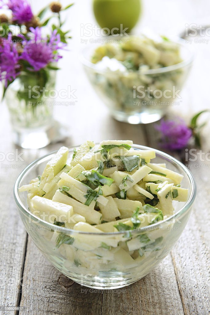 Kohlrabi salad stock photo