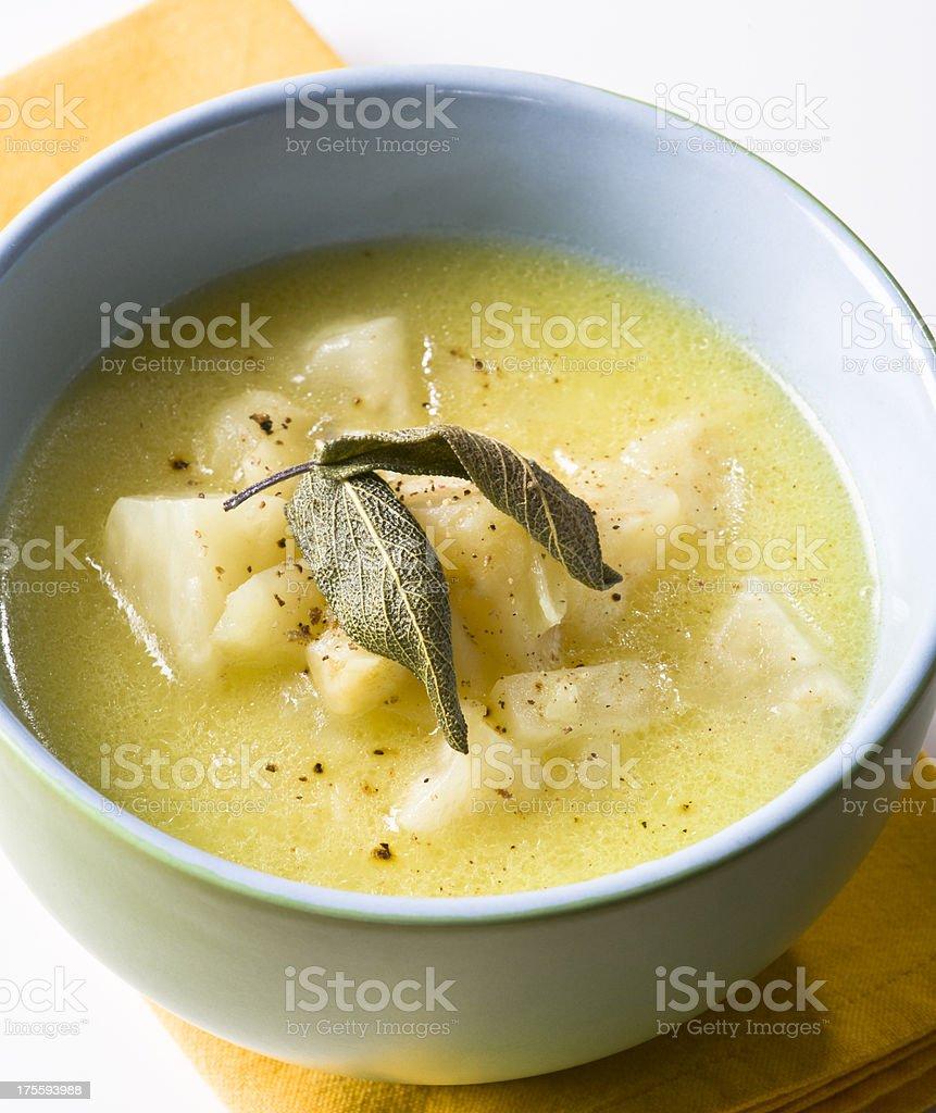 kohlrabi soup royalty-free stock photo