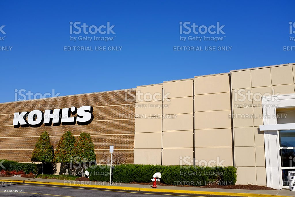 Kohl's Shopping stock photo