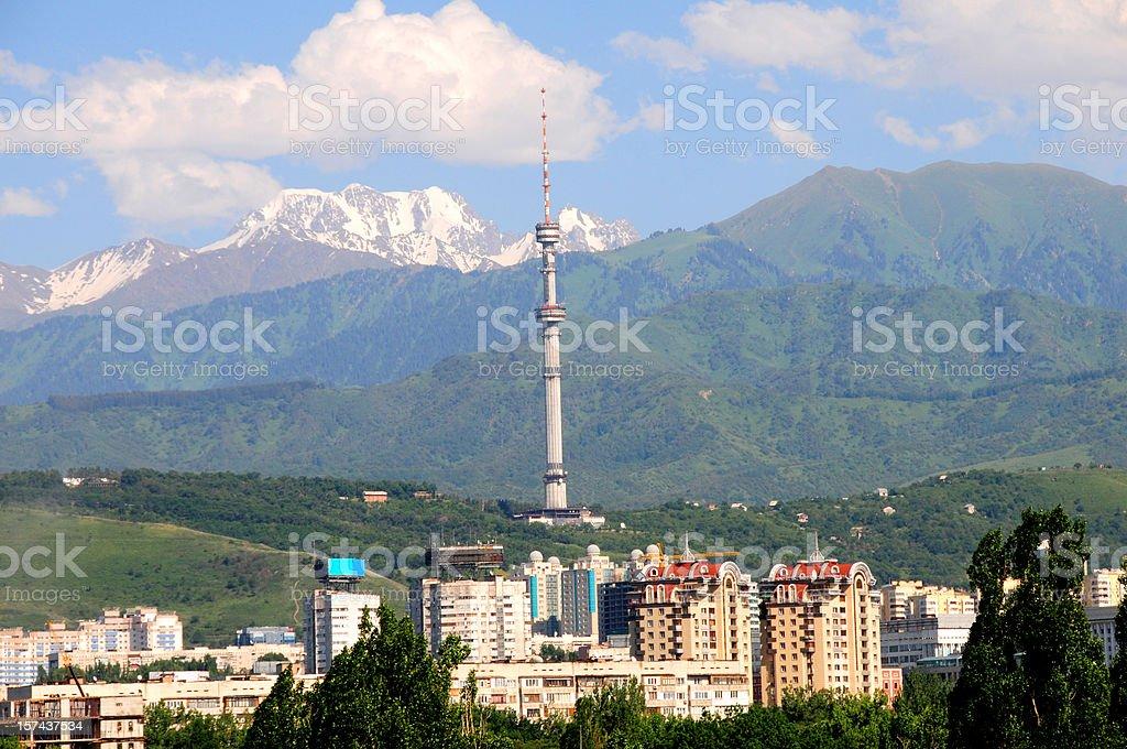 Kok Tobe Tower stock photo
