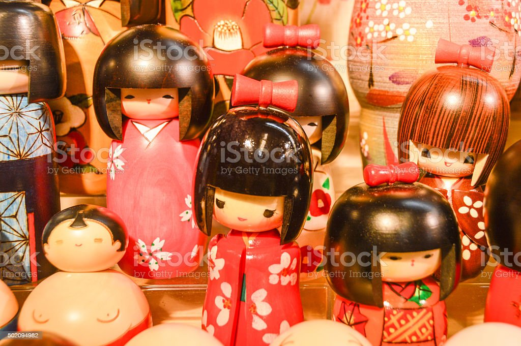 Kokeshi Dolls stock photo
