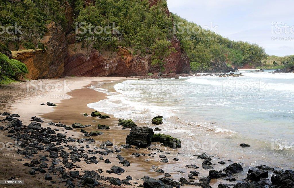 Koki Beach outside Hana, Maui stock photo