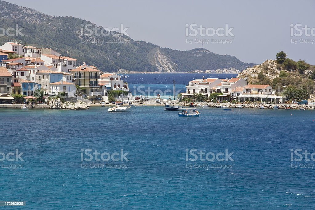 Kokkari bay in Samos Island (Greece) stock photo