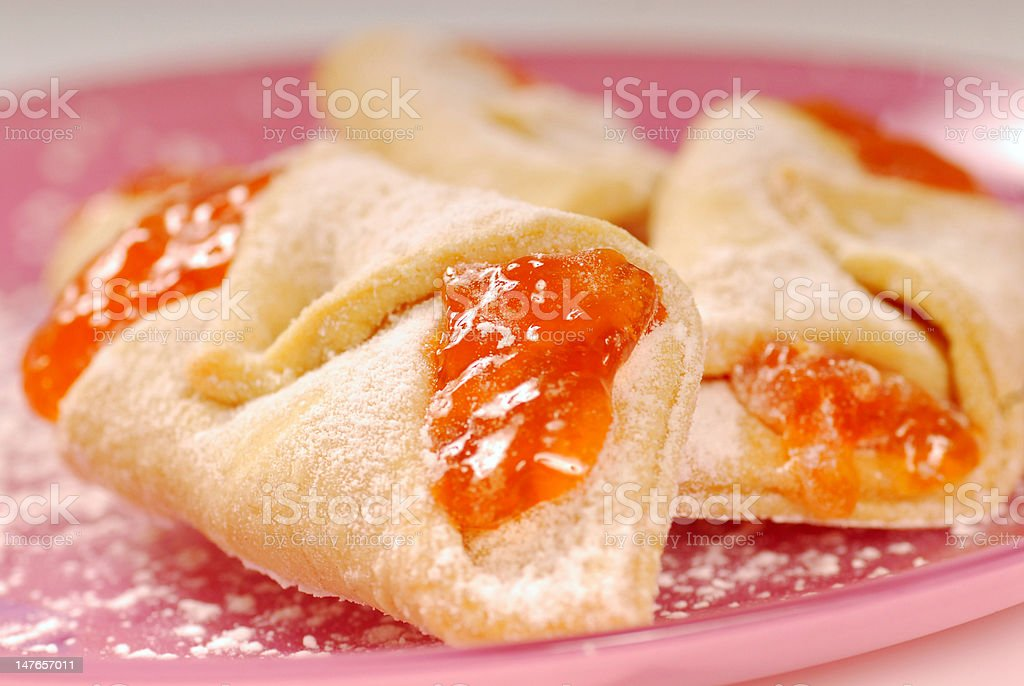 Kolache with apricot filling stock photo