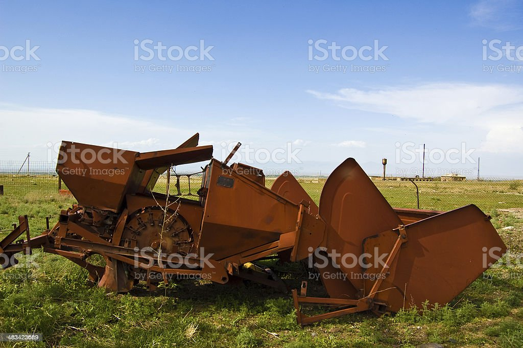 Kolkhoze - Machines stock photo