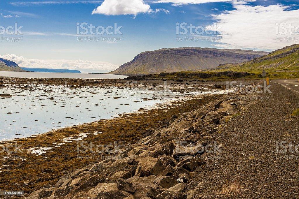 Kollafjordur fjord - Iceland. royalty-free stock photo