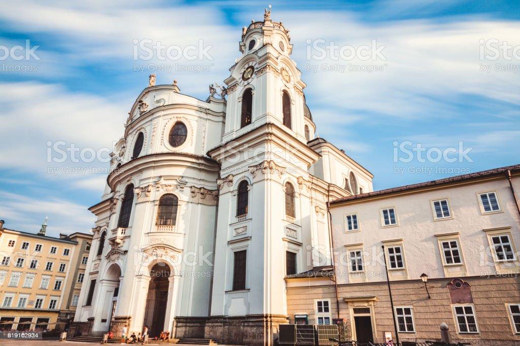Kollegienkirche in old town Salzburg Austria stock photo