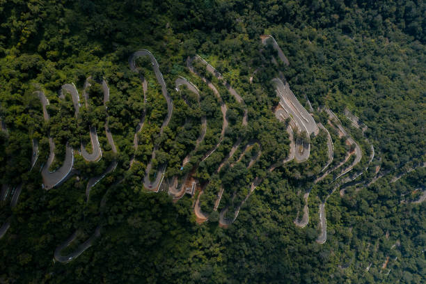 Kolli hills Kollimalai seventy hairpin bends located in central Tamil Nadu, India stock photo