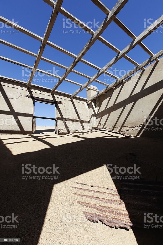 Kolmanskop Ghost Town royalty-free stock photo