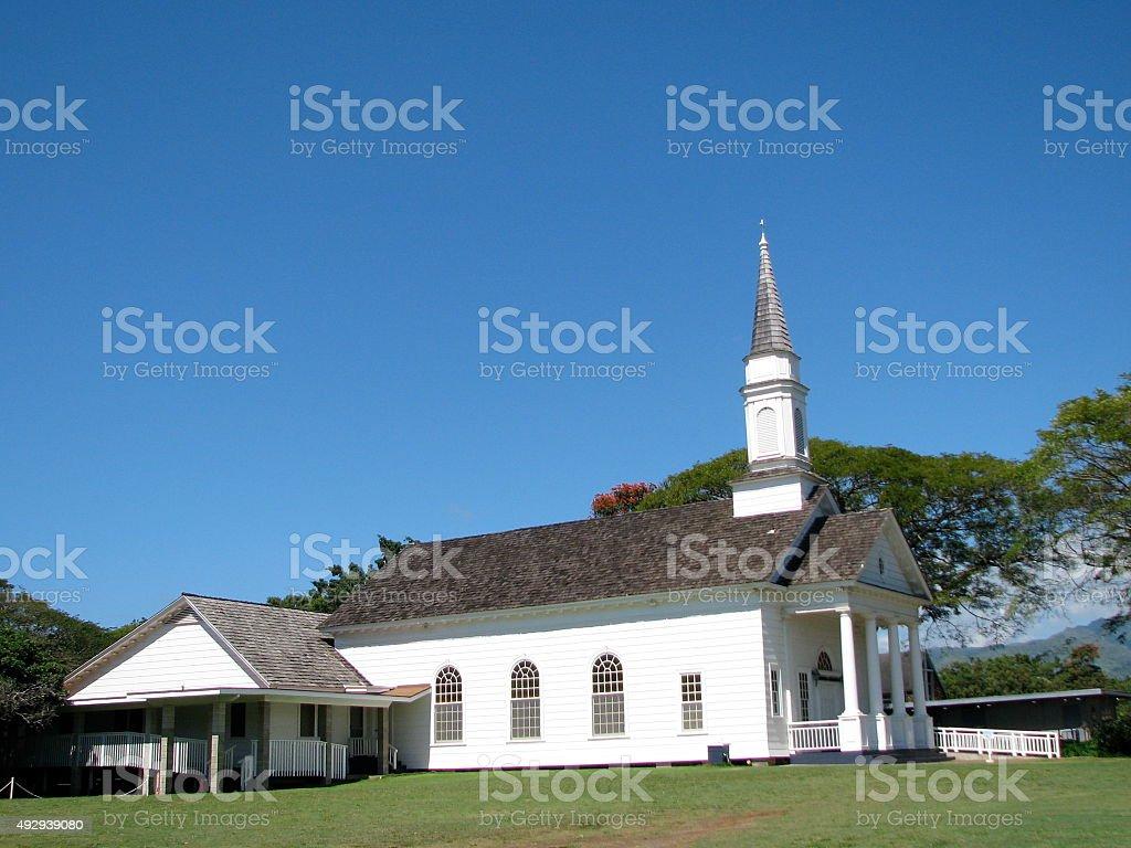 Koloa Church, Kauai stock photo
