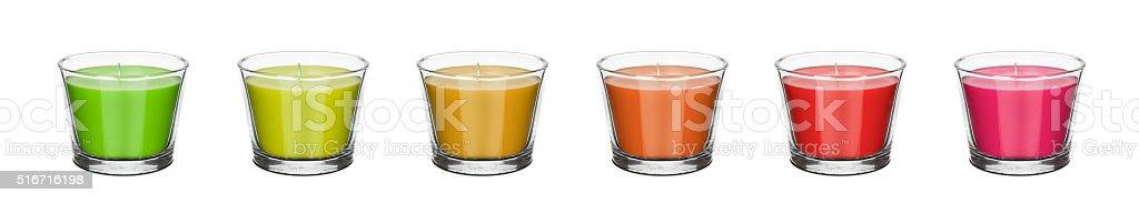 Kolorowe świeczki stock photo