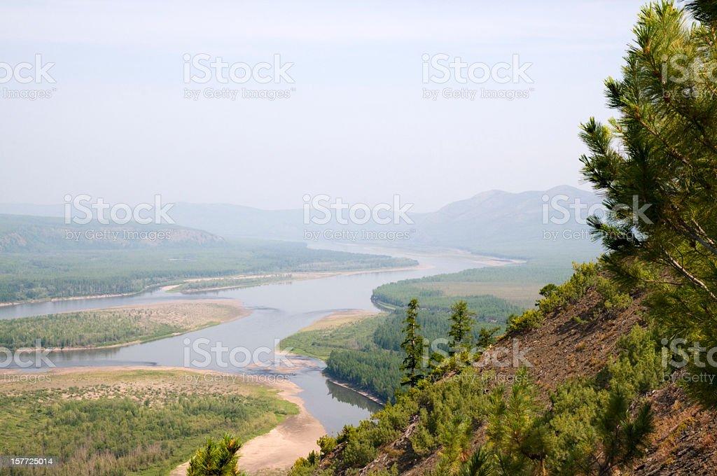 Kolyma River (Eastern Siberia, Russia). royalty-free stock photo
