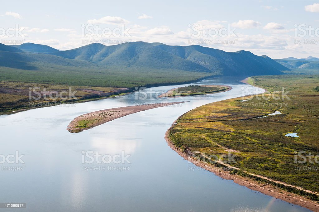 Kolyma River. stock photo