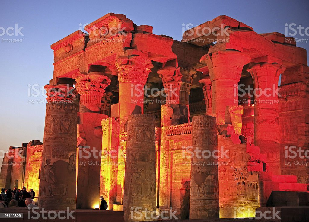 Kom Ombo temple by nigth egypt royalty-free stock photo