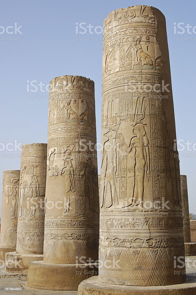 Kom Ombo temple, Egypt royalty-free stock photo