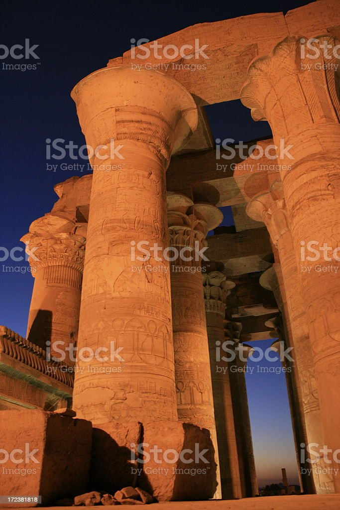 Kom Ombo temple on the Nile River, Egypt royalty-free stock photo