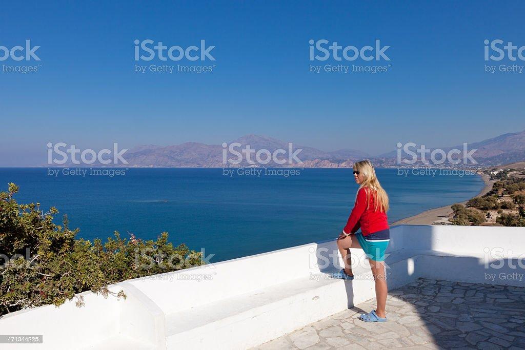 Kommos view, Crete stock photo