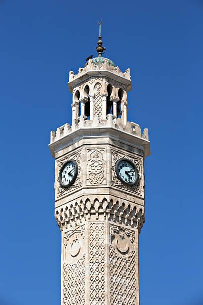 Konak clock tower stok fotoğrafı