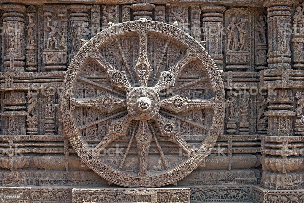 Konark Wheel stock photo
