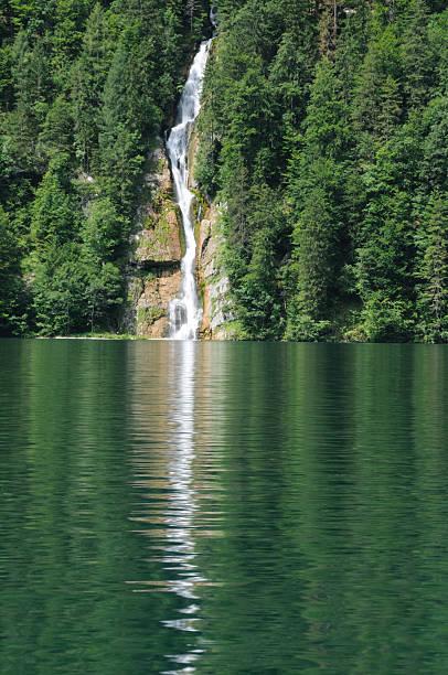 Konigsbachfall - Waterfall, Konigsee, Bavaria stock photo